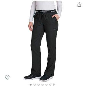 2 pairs black Grey's Anatomy women's scrub pants